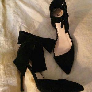 """Madison by Shoedazzle """"Mayala"""" Black Velvet Heels"""